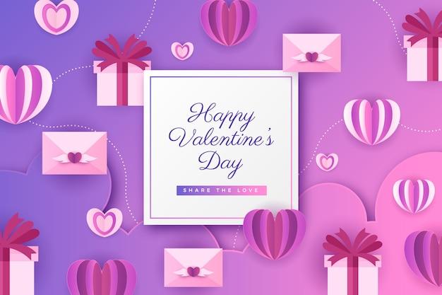 Valentinstag hintergrund mit geschenken