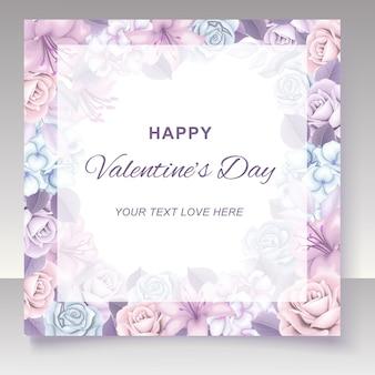 Valentinstag hintergrund mit handgezeichnet