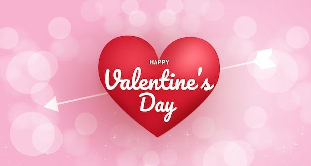 Valentinstag hintergrund mit herzen auf rosa