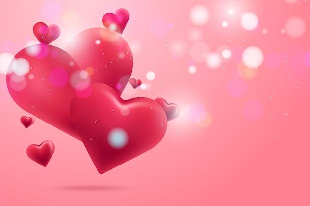 Valentinstag hintergrund mit herzen