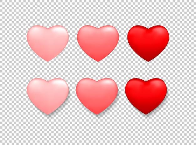 Valentinstag hintergrund mit roten herzen