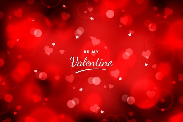 Valentinstag hintergrund mit unscharfen elementen