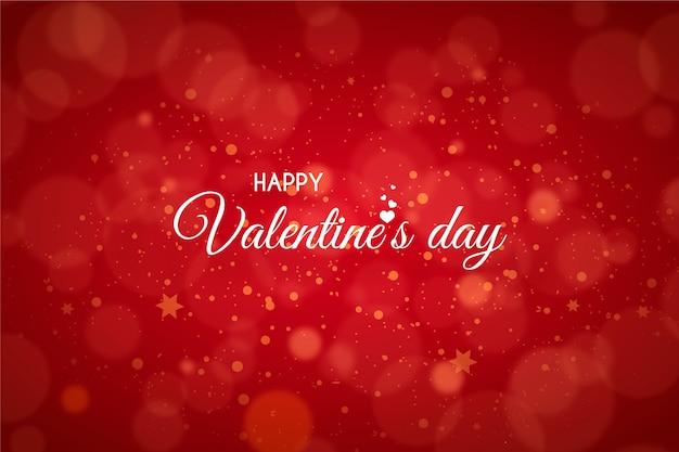 Valentinstag hintergrund mit unscharfen punkten