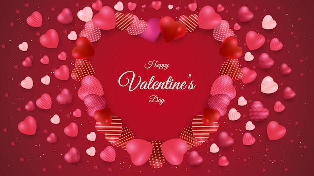 Valentinstag hintergrunddesign mit liebesform