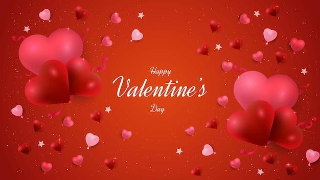 Valentinstag hintergrunddesign mit liebesformen