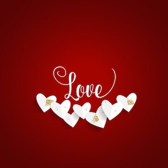 Valentinstag hintergrunddesign. vektor-illustration