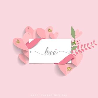 Valentinstag hintergrunddesign.