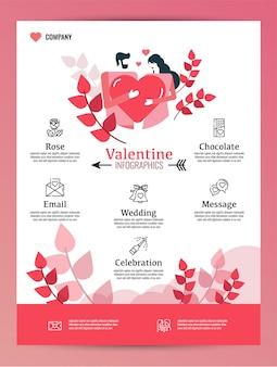 Valentinstag-icon-set. gefüllter und umrissstil.