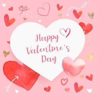 Valentinstag-ikonen-aquarellillustration