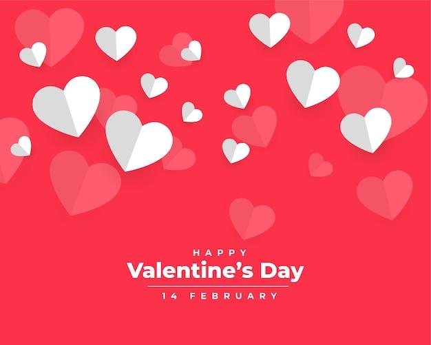 Valentinstag im papierstil design
