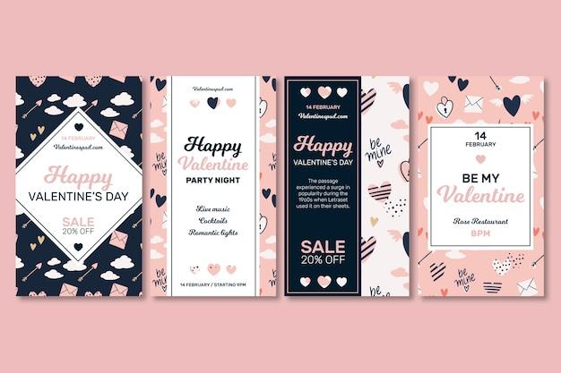 Valentinstag instagram geschichten sammlung