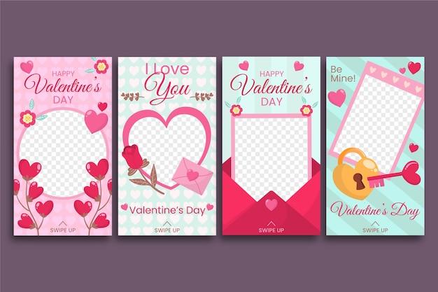 Valentinstag instagram geschichtensammlung