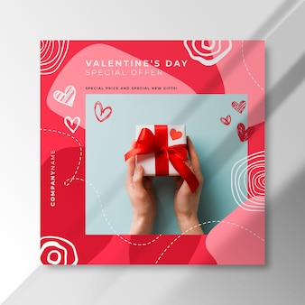 Valentinstag instagram post mit sonderangebot