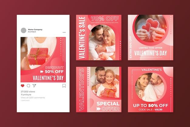 Valentinstag instagram post sammlung