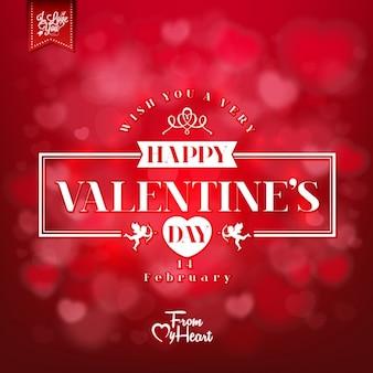 Valentinstag-karte design
