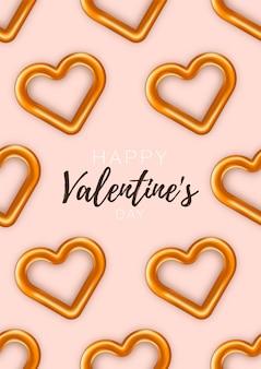 Valentinstag-karte. festlich romantisch. liebesplakat speziell. werbebroschüre zum valentinstag.