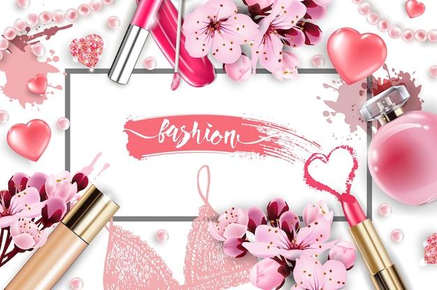 Valentinstag-karterotes herz aus tropfen nagellackverwenden sie für werbeflyer-banner vector