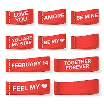 Valentinstag kleidung etiketten