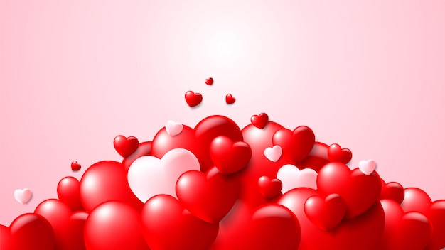 Valentinstag konzept hintergrund. vektor-illustration
