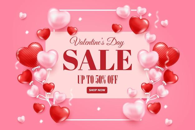 Valentinstag konzept verkauf banner