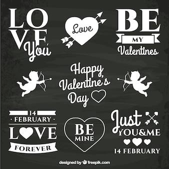 Valentinstag kreide schriftzug