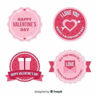 Valentinstag kreis abzeichen sammlung