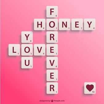 Valentinstag-kreuzworträtsel