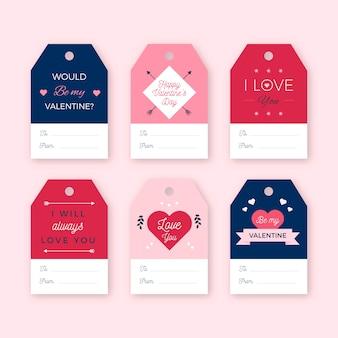Valentinstag-label-auflistung
