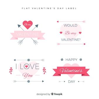 Valentinstag label collectio