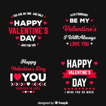 Valentinstag-label & zitat-sammlung
