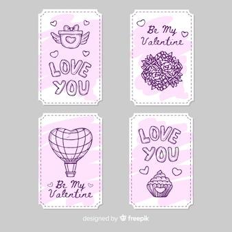 Valentinstag-labelsammlung