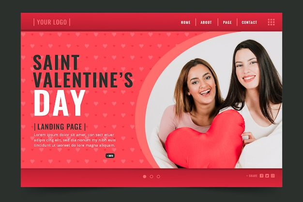 Valentinstag landing page vorlage