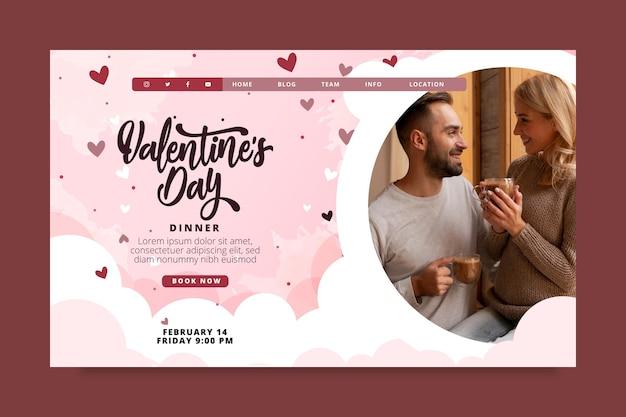 Valentinstag landingpage vorlage Kostenlosen Vektoren