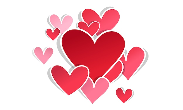 Valentinstag leere karte