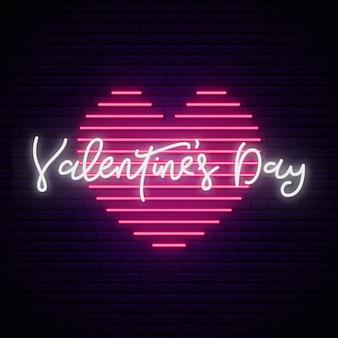 Valentinstag leuchtreklame.