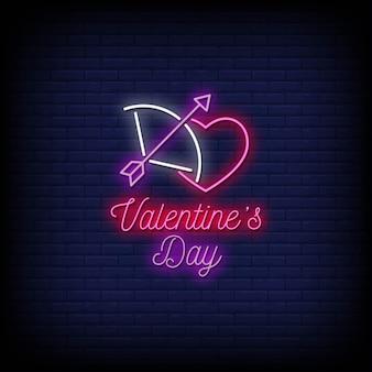 Valentinstag leuchtreklamen