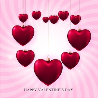 Valentinstag liebe und gefühle hintergrund