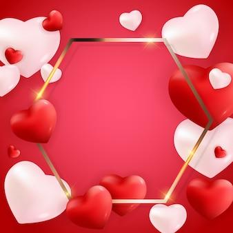 Valentinstag liebe und gefühle hintergrunddesign.
