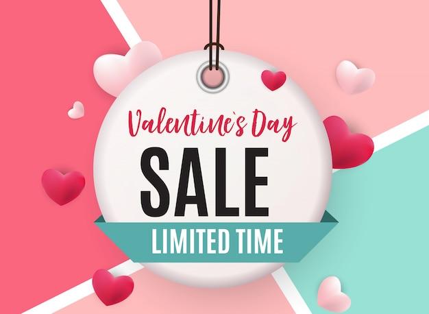 Valentinstag liebe und gefühle verkauf banner design.