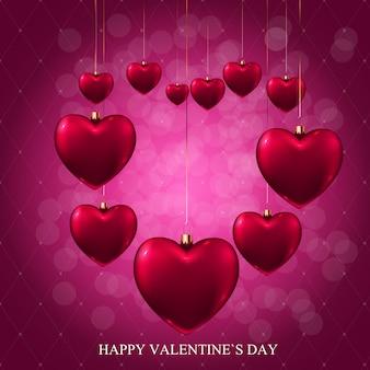 Valentinstag liebe und gefühle verkauf hintergrund design.