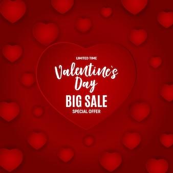 Valentinstag liebe und gefühle verkauf hintergrund. illustration