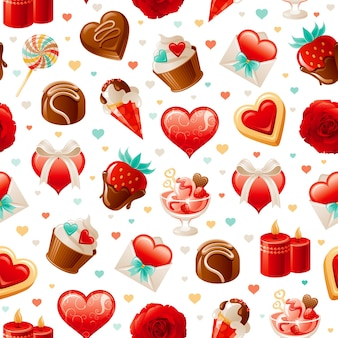 Valentinstag liebesmuster.