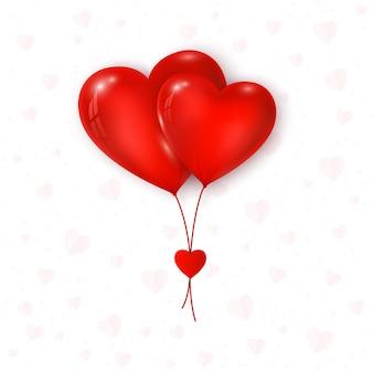 Valentinstag luftballons rote farbe herzform.