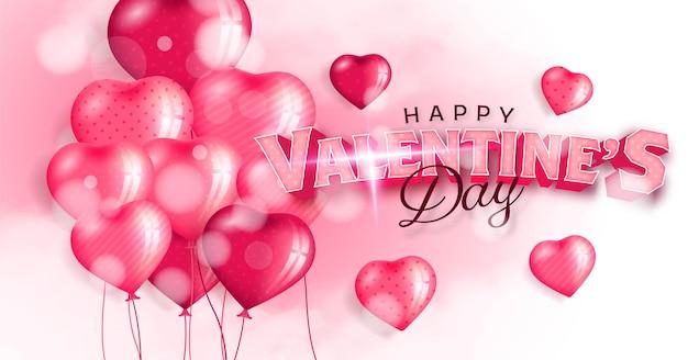 Valentinstag mit 3d realistischer herdform