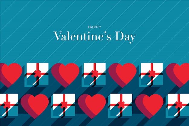 Valentinstag mit geschenkbox