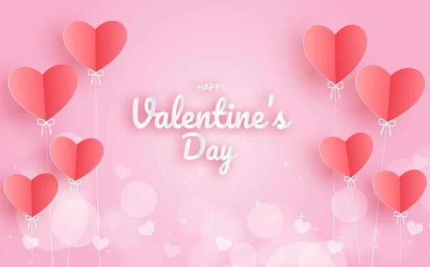 Valentinstag mit herzballons