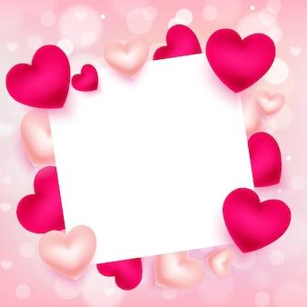 Valentinstag mit leeren exemplar