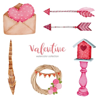 Valentinstag mit liebeselementen