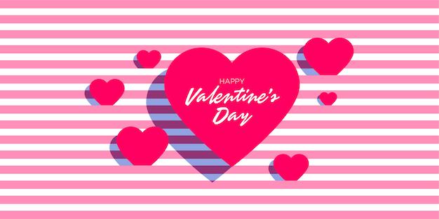 Valentinstag mit rosa linie streifenmuster