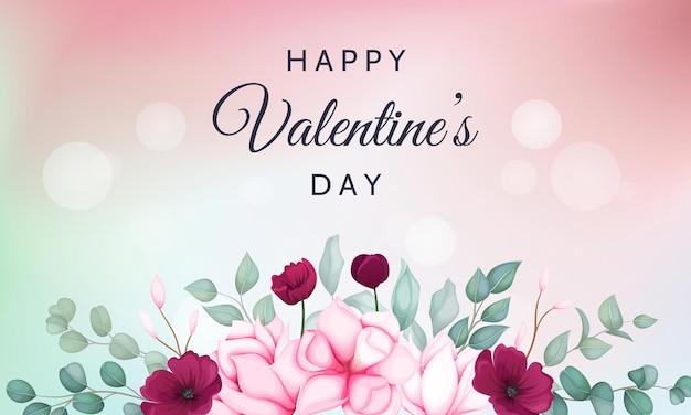 Valentinstag mit schönen blumen